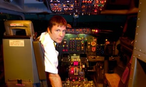 Bruce Dickinson … At the controls in 2008.