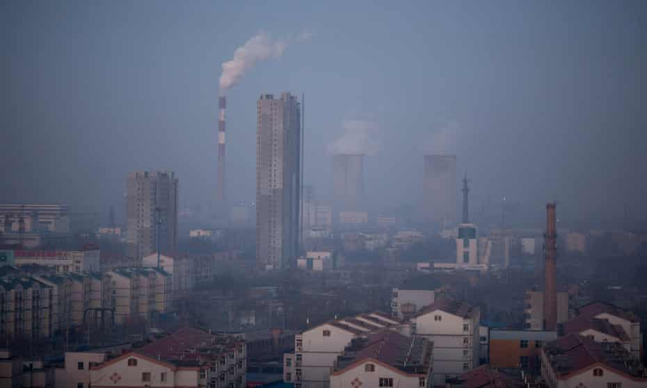 March 2013: pollution fills the air in Baoding, Hebei province – now officially China's most polluted city.