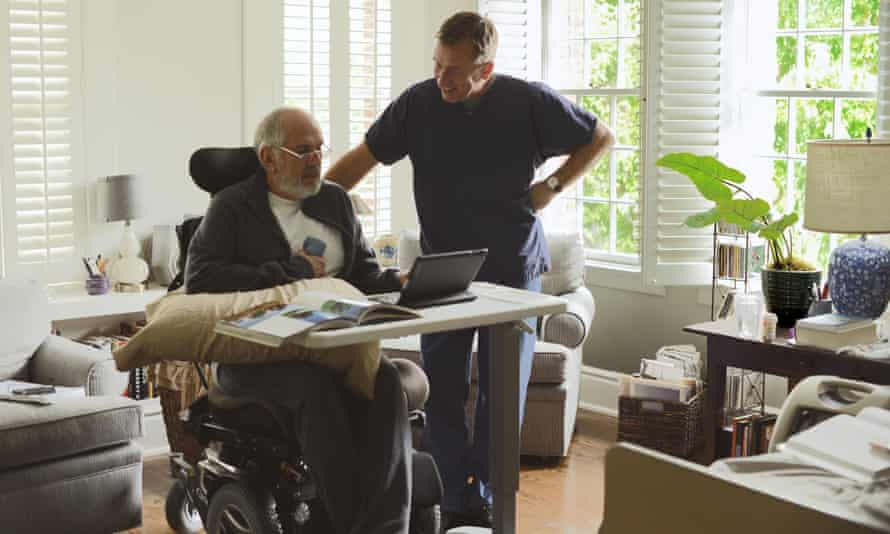 You can be too careful ... Tim Roth (right) in Chronic
