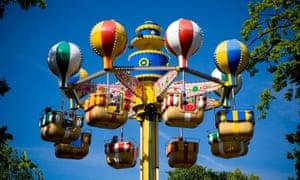 The balloons in Bakken amusement park