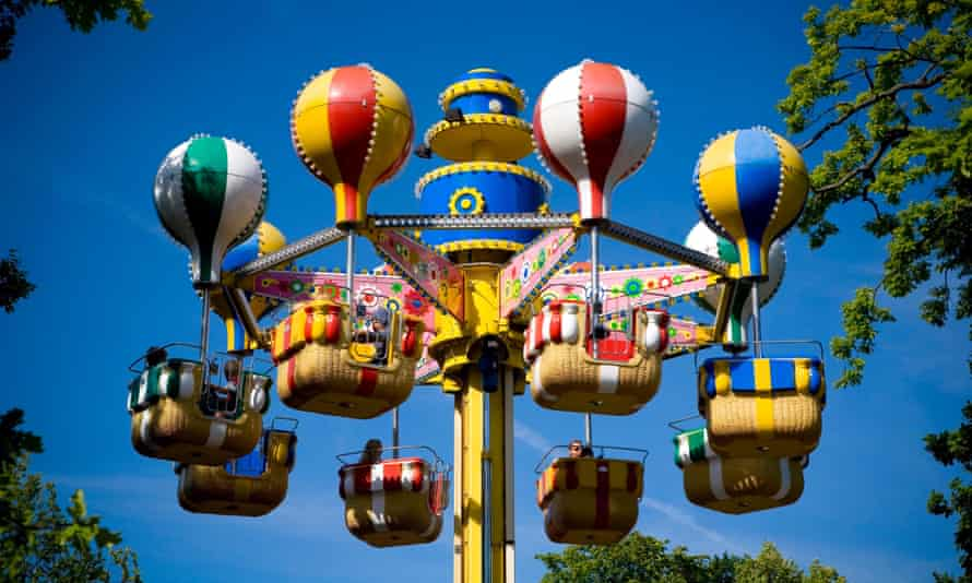 The balloons in Bakken amusement park