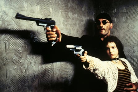 With Jean Reno in Léon.