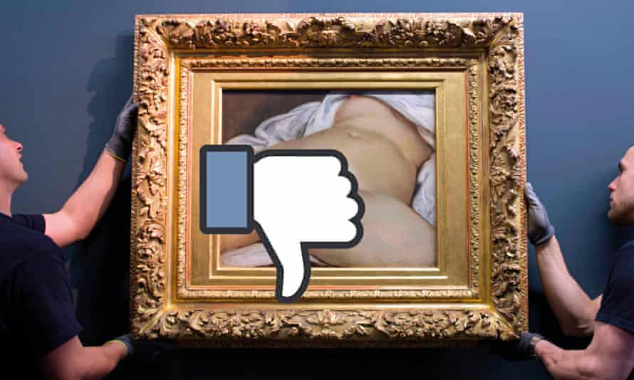 Facebook has banned the posting of Gustave Courbet's The Origin of the World
