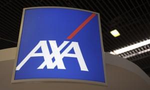 logo of AXA at the Salon des Entrepreneurs