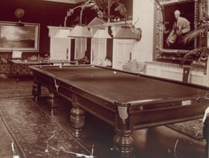 A 19th-century billiards table