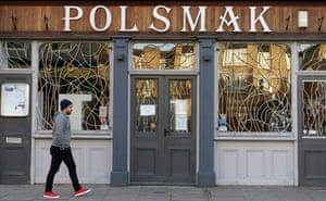 A Polish delicatessen and shop in Dalston, north London.