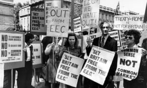 Campaigners opposed to EEC membership in 1975