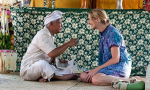 Julia Roberts learns how to meditate in the film Eat, Pray, Love.