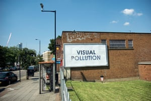 """""""Visual Pollution"""" artist: Mobstr  from Street Messages."""