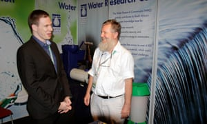 Stuart Woolley (L) and Chris Buckley (R), toilet experts at the Sanitation Conference at the ICC in Durban.