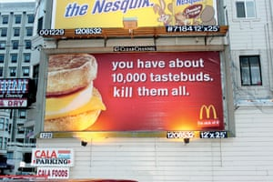 McDonalds by artists: Billboard Liberation Front from StreetMessages.
