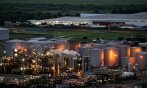 A general view of part of the South African Petroleum Refinery (SAPREF) is seen in Durban November 29, 2011.