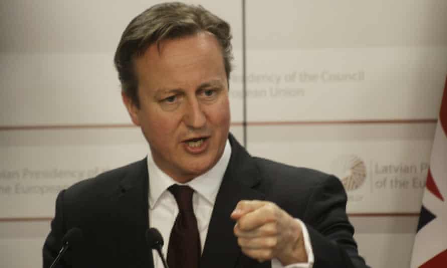 David Cameron Latvia extremism proposal support