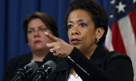 US attorney general Loretta Lynch says banks were 'brazen' in their 'near-daily' illegal behaviour.