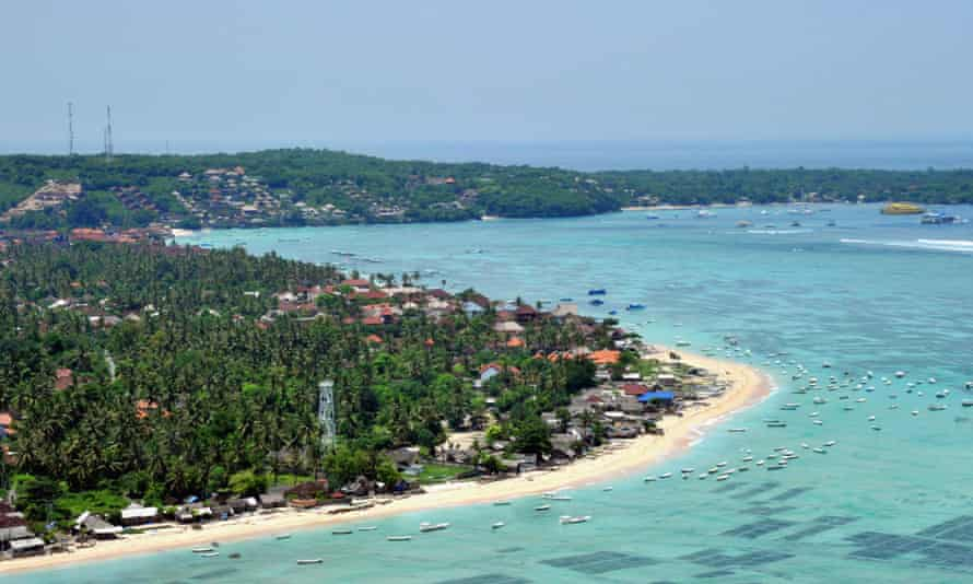 The small island of Lembongan, off the coast of Bali, Indonesia.
