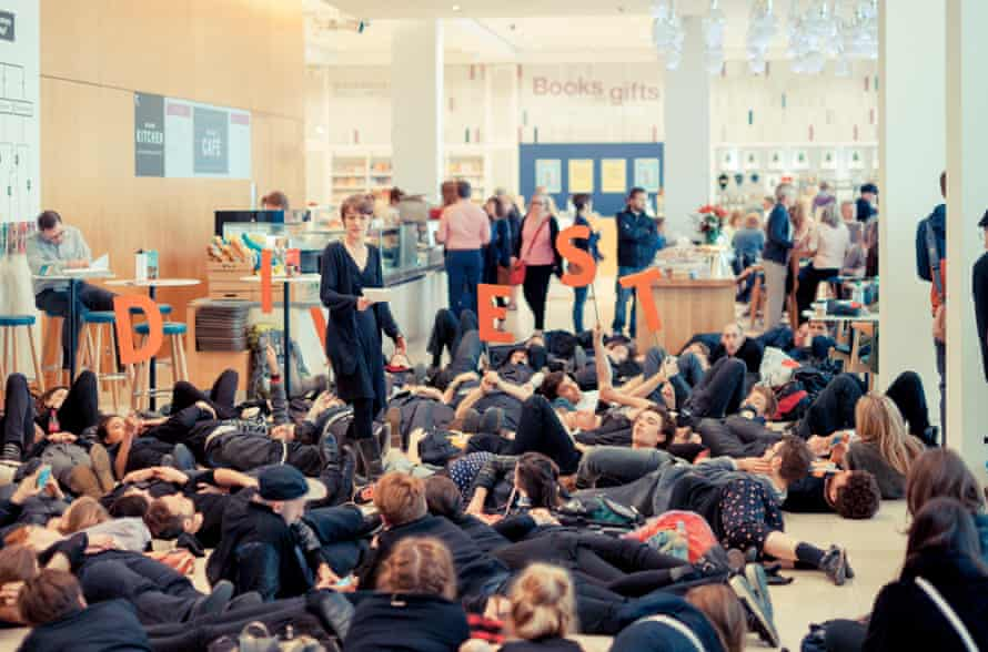 Activists occupy the Wellcome Trust