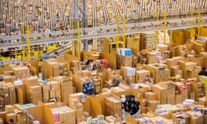 The Amazon Fulfilment Centre just outside Peterborough: for 11 years internet transactions involving UK online shoppers have been booked in Luxembourg.