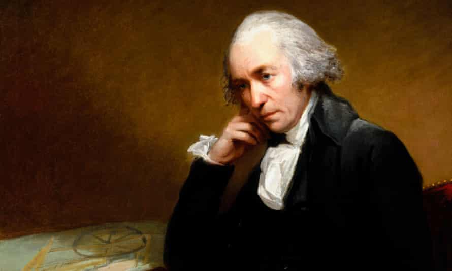 The earliest known portrait of James Watt, painted by Carl Fredrik von Breda in 1792