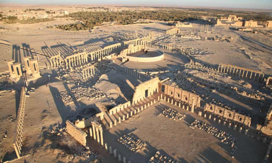 Part of the ancient city of Palmyra.
