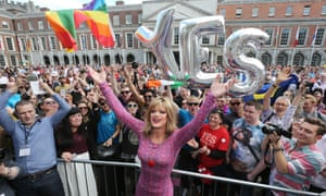 Rory O'Neill, known by his stage name of Panti Bliss, leads the celebrations