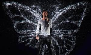 Mans Zelmerloew of Sweden with his song 'Heroes'