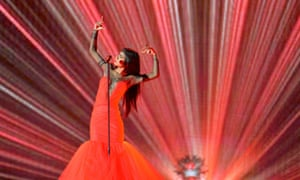 Aminata from Latvia performs the song 'Love Injected'