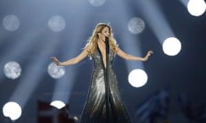Greece's Maria Elena Kyriakou performs 'One Last Breath'