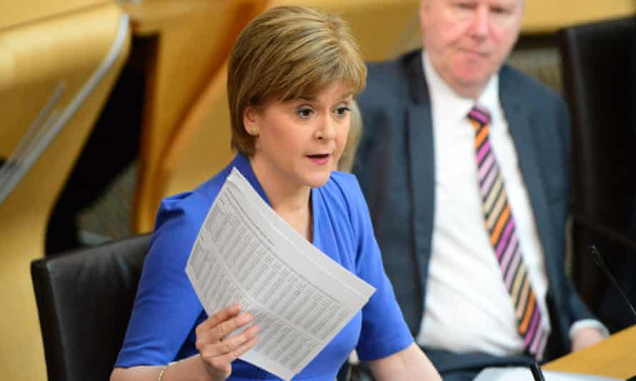 Nicola Sturgeon said: 'The SNP's priority is ending austerity, and the damage it does to people's lives.'