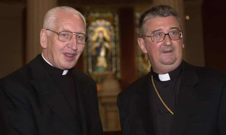 Archbishop Diarmuid Martin (right) with Cardinal Desmond Connell.