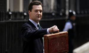 George Osborne with Disraeli's original budget box as he leaves 11 Downing Street for parliament in June 2010.