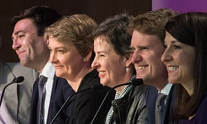 Labour MPs Andy Burnham, Yvette Cooper, Mary Creagh, Tristram Hunt and Liz Kendall