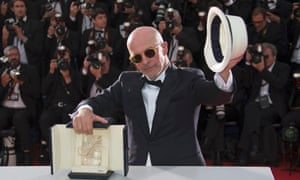 Dheepan director Jacques Audiard doffs his hat to the Palme d'Or.