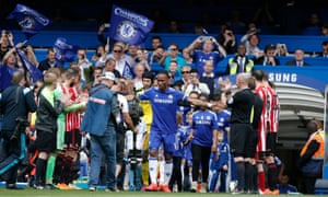 Here's one of them. Didier Drogba, who was voted the club's greatest ever player in a fans' poll in 2012, was playing his last game for Chelsea.  The Ivorian first signed for the club in 2004 and scored a total of 164 goals in 381 appearances