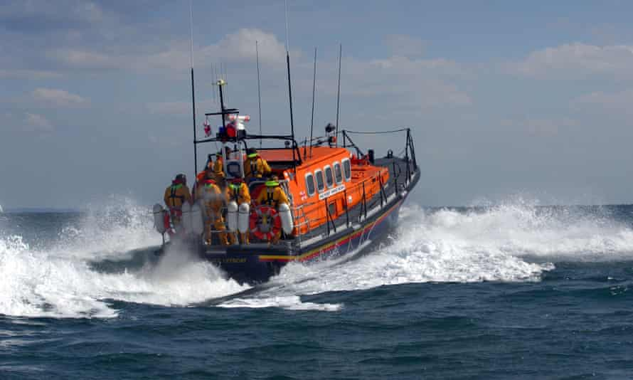 Lifeboat search and rescue Swanage diver