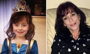 Derin Jordon, six, and her mother, Janet.
