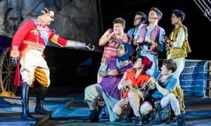 David Birrell as Captain Hook in Peter Pan Regent's Park's Open Air theatre, in London.