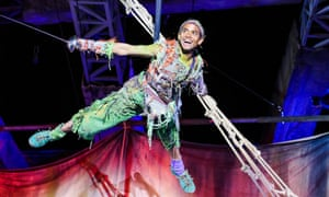 Hiran Abeysekera in the title role in Peter Pan. Photograph: Tristram Kenton for the Guardian