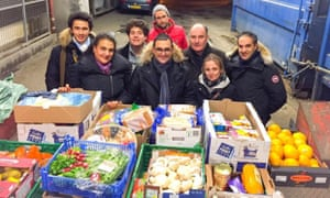 Arash Derambarsh with food collection