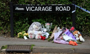 Floral tributes in Vicarage Road, Didcot.