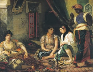 Women of Algiers by Eugene Delacroix, the inspiration for Picasso's now famous painting