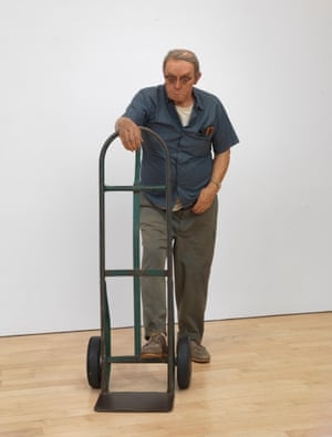 Man with Hand Cart 1975