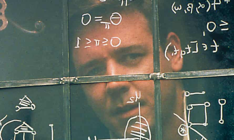 Russell Crowe as John Nash in A Beautiful Mind, 2001.