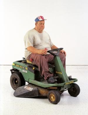 Man on Mower 1995