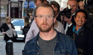 Pondering retirement from geekdom ... Simon Pegg at the launch of his film, Man Up.