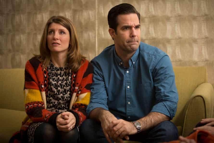 Sharon (Sharon Horgan) and Rob (Rob Delaney) in Catastrophe.
