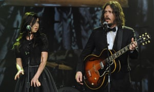 Joy Williams and John Paul White performing as the Civil Wars in 2011.