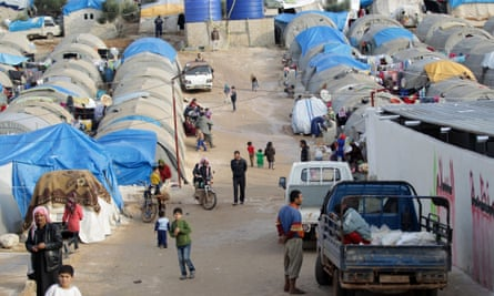 Refugee camps provide shelter to the thousands who have been displaced during the conflict.