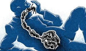 Matt Kenyon illustration to go with Aditya Chakrabortty piece on child poverty