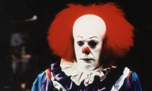 Tim Curry as Pennywise in the first adaptation of It.