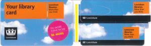 Lewisham library card